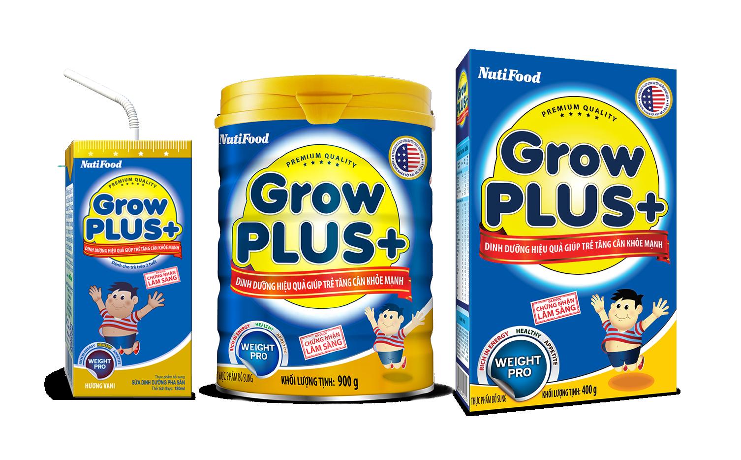 Sữa Growplus+ cho trẻ suy dinh dưỡng, thấp còi